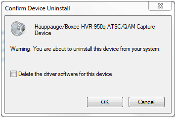 Confirm Device Uninstall